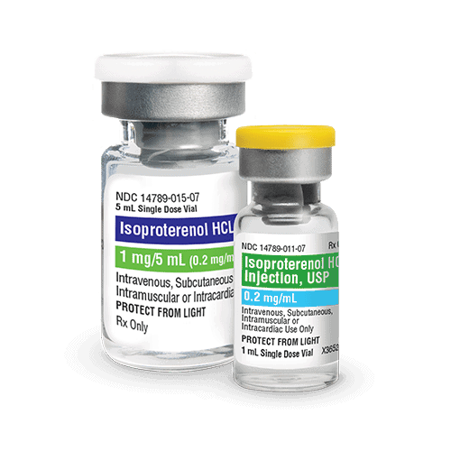 Isoproterenol HCL Injection, USP bottles